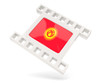 Movie icon with flag of kyrgyzstan
