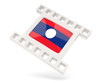 Movie icon with flag of laos
