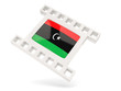 Movie icon with flag of libya