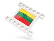 Movie icon with flag of lithuania