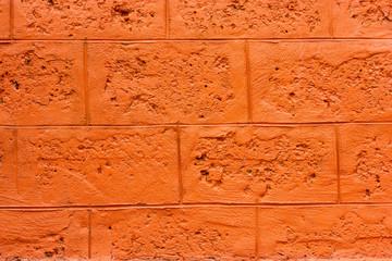 Wall blocks orange.