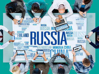 Russia Global World International Countries Globalization Concep