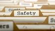 Safety on Folder Register of Card Index.