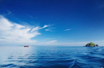 Calm sea and blue sky, Thailand