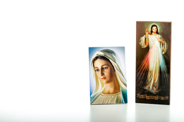 Merciful Jesus and Our Lady of Medjugorje the Blessed Virgin Mar