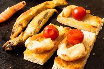 Tapas shrimp tempura fries