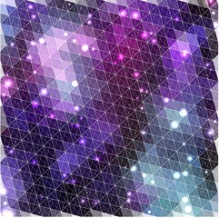 Lilac glowing pattern of triangle shapes