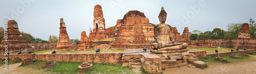 Leinwanddruck Bild Wat Mahatat. Panorama