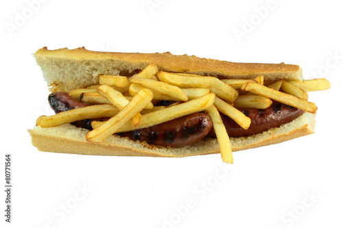 Foto op Canvas Snack américain merguez