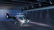 Helikopter in einer Wartungshalle - 80772342
