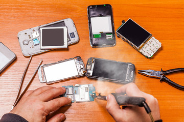 soldering, repair broken phone