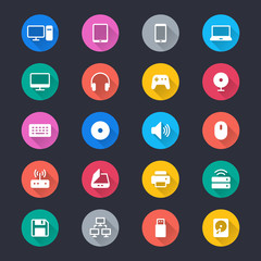 Computer simple color icons