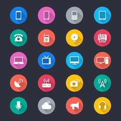 Communication device simple color icons