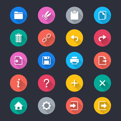 Application toolbar simple color icons