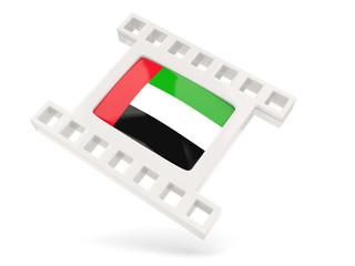 Movie icon with flag of united arab emirates