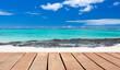 planches sur plage de Rodrigues, île Maurice
