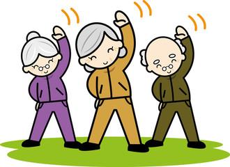 老人たちの体操