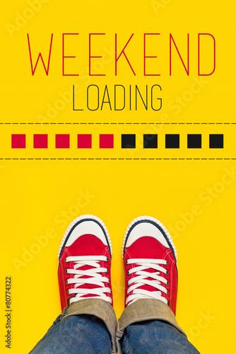 Fototapeta Weekend Loading Concept