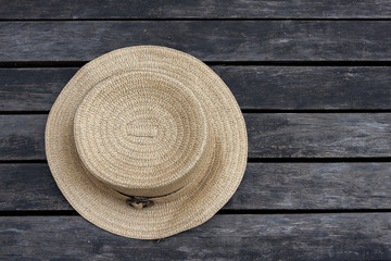 Vintage tone style summer hat background