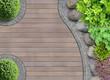 Gartenarchitektur Detail von oben mit Steinbeet - 80775551