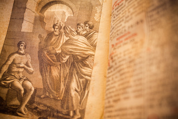 Religious drawing from a 300 years old roman book