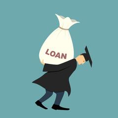 Graduate under burden of loan