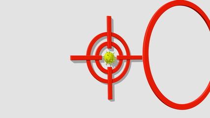 target biuld near virus model