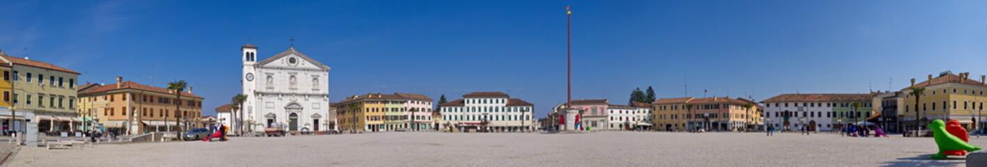 Panorama Hauptplatz Palmanova / Friaul / Italien