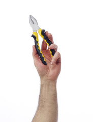 Hand with pliers