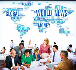 World News Globalization Advertising Event Media Infomation