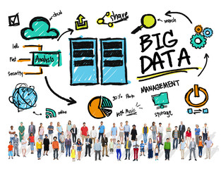 Diversity People Big Data Community Share Concept