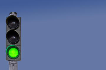 Verkehrsampel Signalfarbe Grün