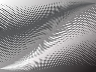 Halftone effect abstract background with two waves