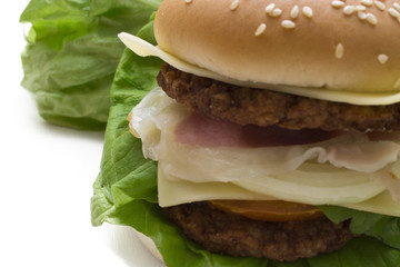 delicious hamburger isolated