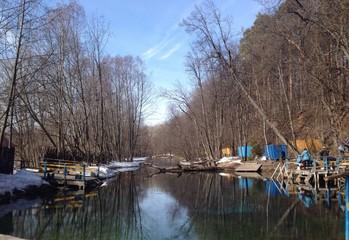 "reservation ""Blue lake"" near Kazan, Russia"