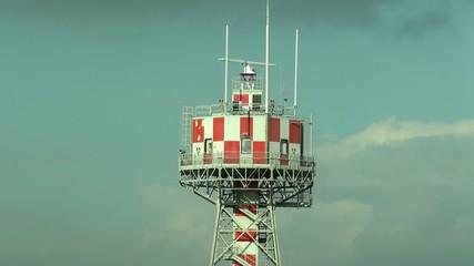 Airport radar surveillance tower.