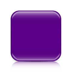 Purple blank button template with space for content