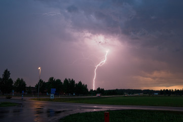 Lightning strike in Sweden