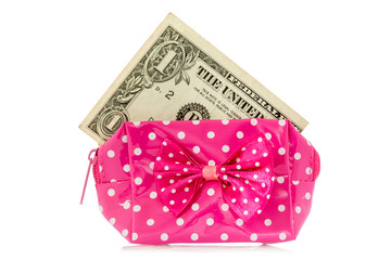 Glamour purse with dollar