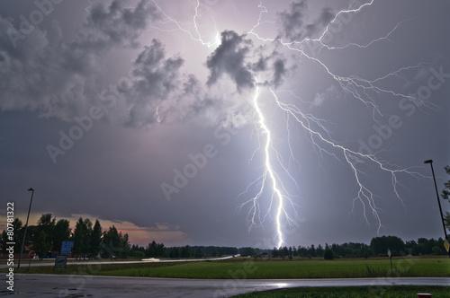 Lightning strike in Sweden - 80781322