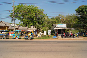 the daily life of a Thai village