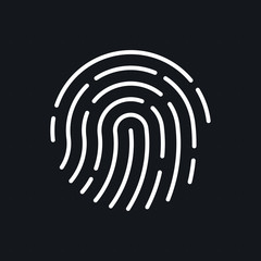 ID app icon. Fingerprint vector illustration