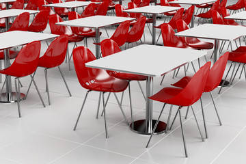 Empty cafeteria