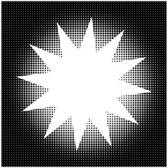 Halftone background with star shape copy space