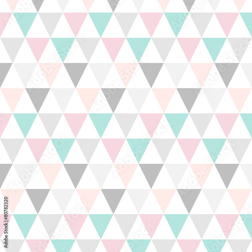 Dreieck Muster Abstrakt Pastell - 80782320