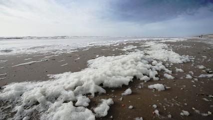 Sea foam from the North sea.