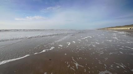 North sea Castricum, Netherlands.