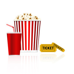 Popcorn, drink and tickets