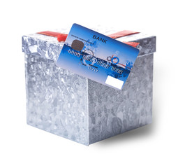 Bank card and box for gifts