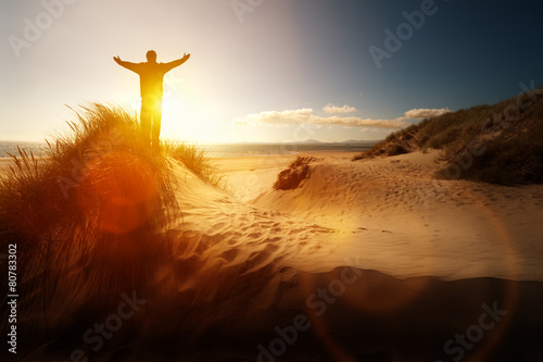 Worship and praise on a beach - 80783302